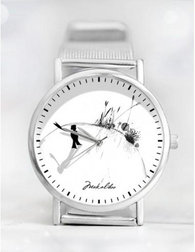 5abee74dd0b Originální design ciferníku je dominantním prvkem hodinek značky Ewa Saj    Makaliboo. Symbolika optimismu a pozitivního myšlení z hodinek přímo čiší.