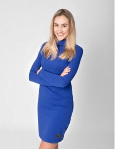 Modré šaty se stojáčkem