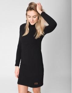 Černé šaty se stojáčkem