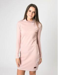 Starorůžové šaty se stojáčkem