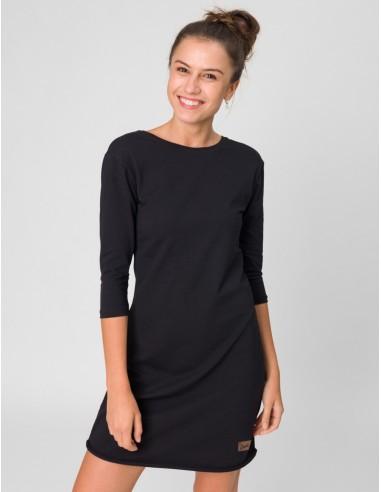 Černé šaty Angelika s 3/4 rukávy