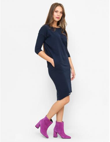 Tmavě modré šaty Ida