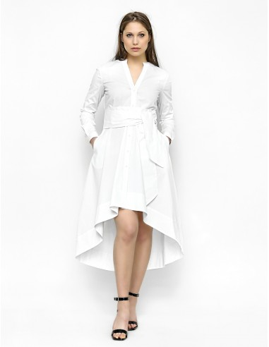 Bílé košilové šaty s mašlí Jadwiga
