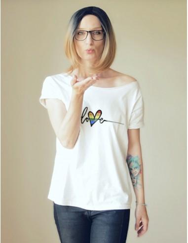 Bílé tričko Love