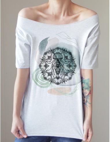 Šedé tričko Medúza