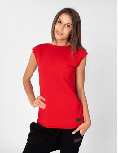 Červené tričko s mašlí Summer