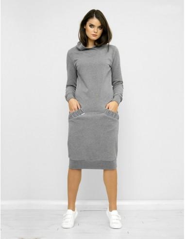 Šedé mikinové šaty Mandy