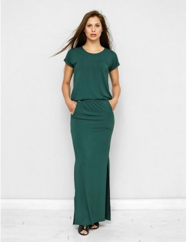 Tmavě zelené šaty Aurora