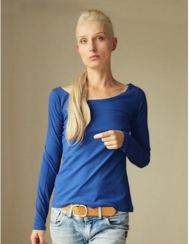 Tmavě modré triko s dlouhými rukávy