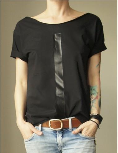 Černé tričko Čára
