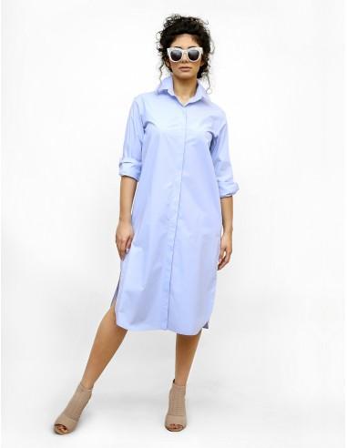 Modré košilové šaty Apolonia