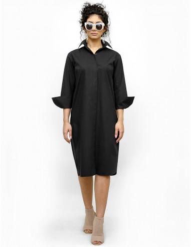 Černé košilové šaty Apolonia