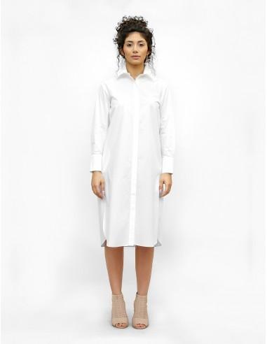 Bílé košilové šaty Apolonia