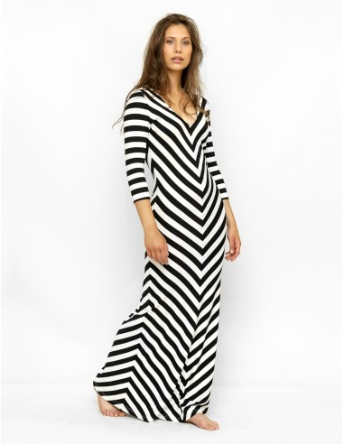 Černobílé šaty Hanka