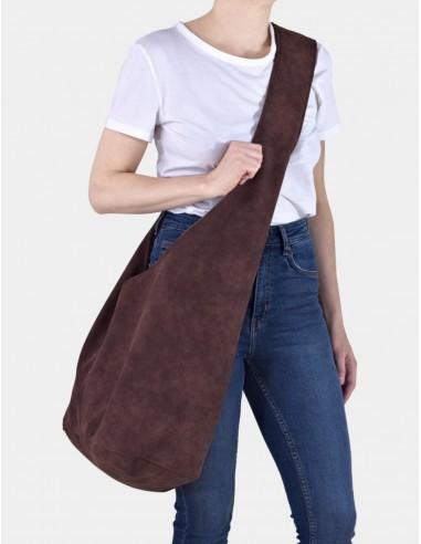 Kaštanově hnědá taška Short Boogi bag