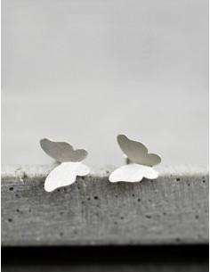 Stříbrné náušnice Motýli