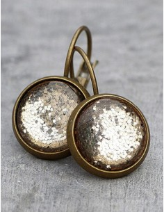 Bronzové náušnice Glamour