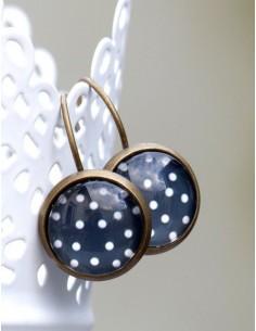 Broznové náušnice Vintage dots