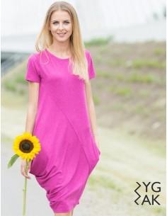 Růžové šaty Creases