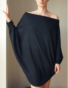 Černý oversize svetr