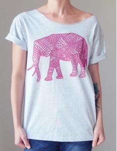 Šedé tričko Slon