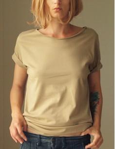 Béžové oversize tričko