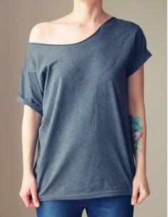 Šedé oversize tričko