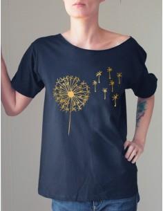 Černé tričko Pampeliška