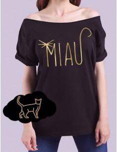 Černé tričko Miau