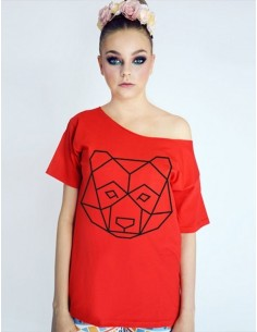 Červené tričko Bear red