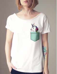 Bílé tričko s jednorožcem v...
