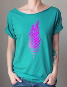 Zelené tričko Pírko