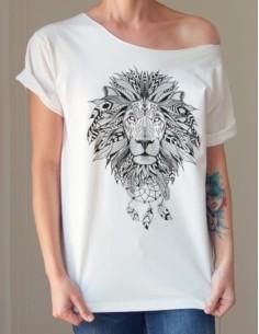 Bílé tričko Lev