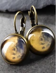 Bronzové náušnice Mars