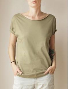 Olivové oversize tričko