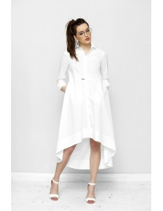 Bílé košilové šaty Frankie