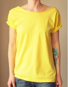 Žluté oversize tričko