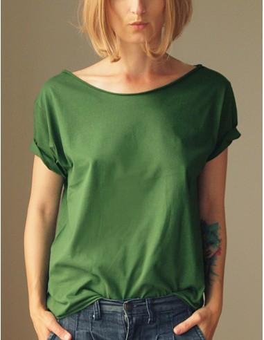 Tmavě zelené oversize tričko