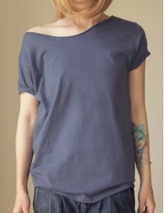 Tmavě šedé oversize tričko