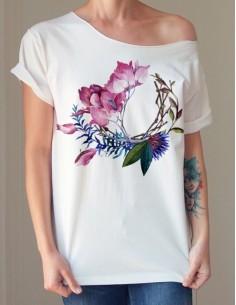 Bílé tričko Magnólie