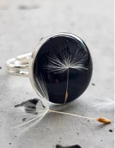 Prsten Pampeliška černý