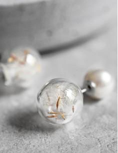 Náušnice Pampeliška perla
