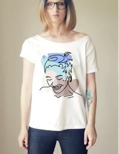 Bílé tričko Úsměv