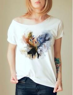 Bílé tričko Jelen