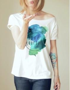 Bílé tričko Love yourself