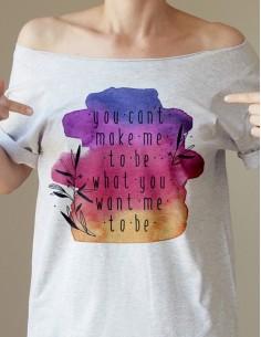 Šedé tričko You can't