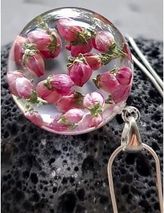 Stříbrný náhrdelník Vřes 2