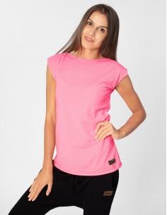 Neonově růžové tričko s...