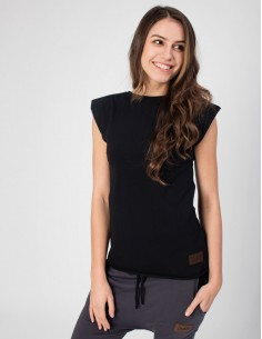 Černé tričko s mašlí Summer