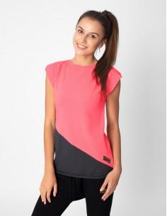 Růžovošedé basic tričko
